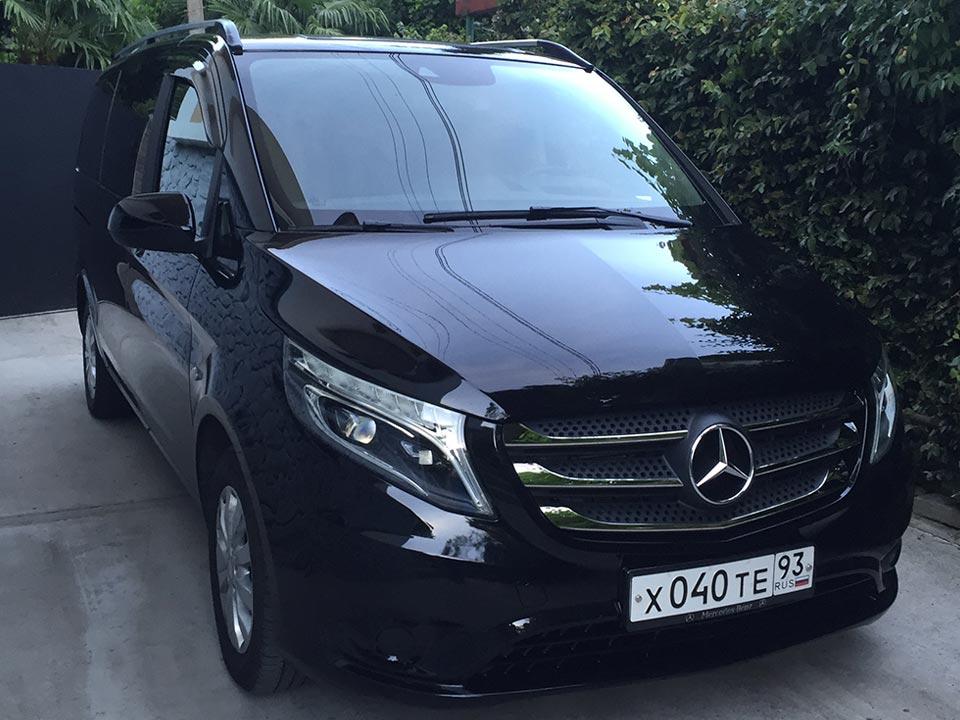 Аренда Mercedes Vito new с водителем в Сочи
