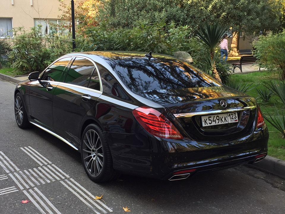 Аренда Mercedes S class W222 в Сочи
